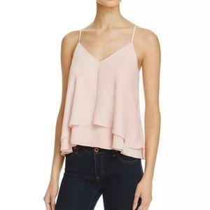 Amanda Uprichard Adriana Silky Top Size XS Pink